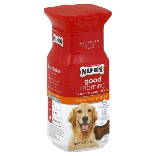 Milk-Bone Good Morning Daily Vitamin Dog Treats, Healthy Joints, 6-Ounce Bottle