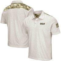 UCF Knights Colosseum OHT Military Appreciation Desert Camo Polo - Heathered Oatmeal