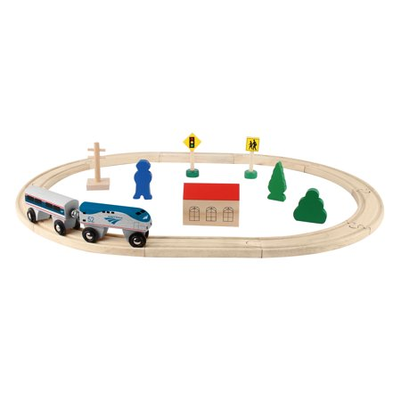 Amtrak Train (Daron Amtrak Wooden Train Set - 20)