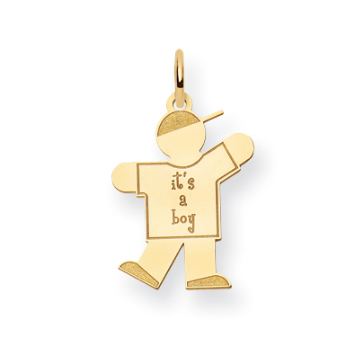 14k Kid Charm by CoutureJewelers