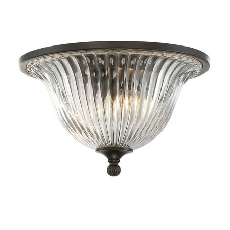 Flush Mounts 2 Light With Classic Bronze Finish Incandescent Bulbs 14 inch 120 -