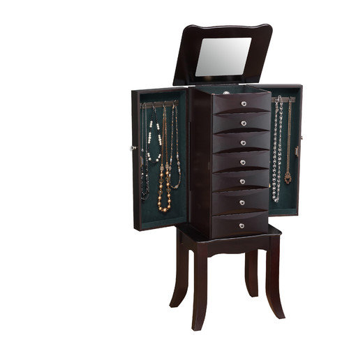 Wildon Home  Teresa Jewelry Armoire with Mirror