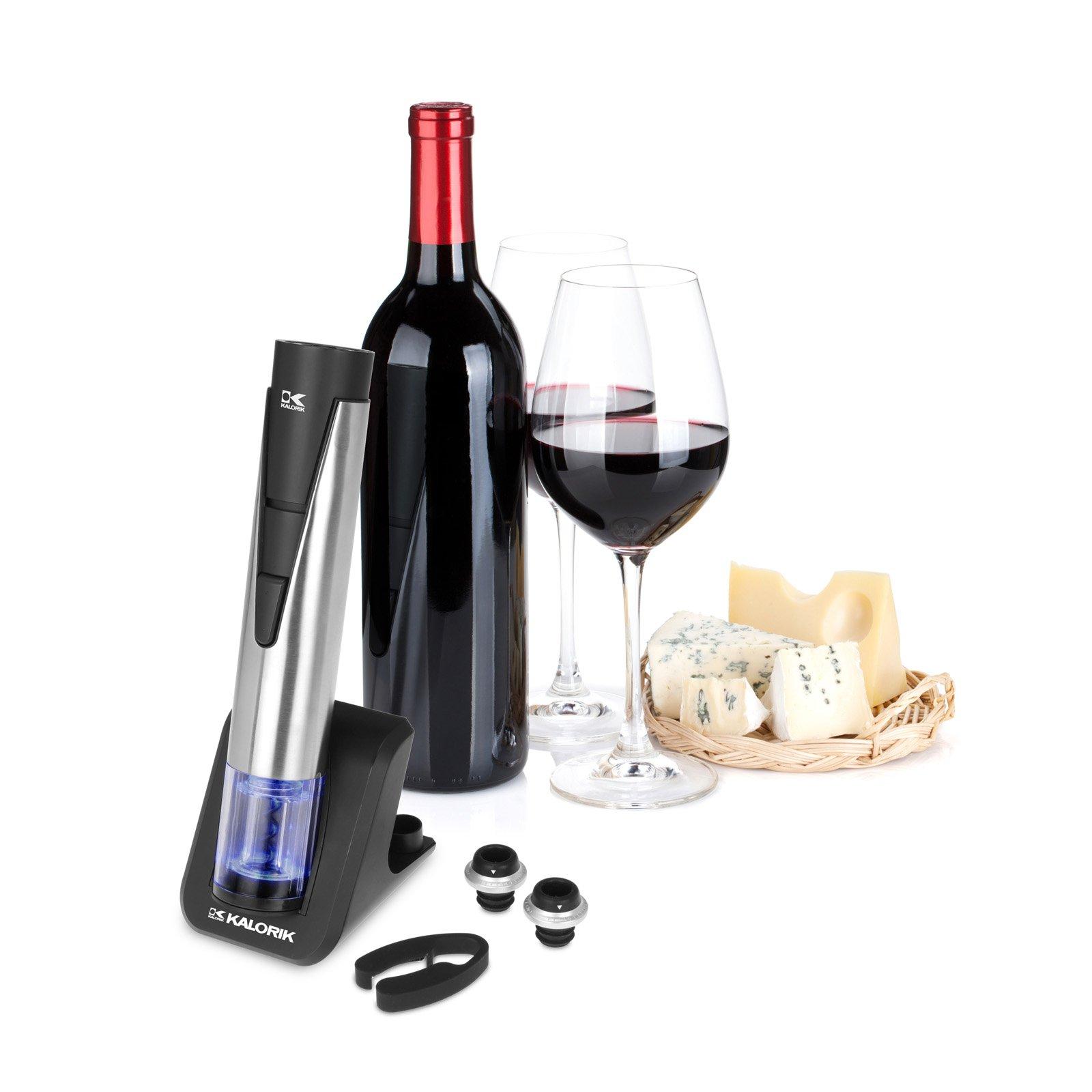 Kalorik 2-in-1 Stainless Steel Wine Opener and Preserver on
