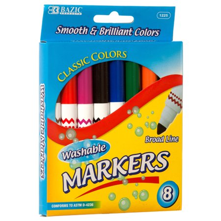 New 320026  Marker 8Pc Jumbo Washable #Bazic (24-Pack) Markers Cheap Wholesale Discount Bulk Stationery Markers](Cheap Xray Markers)