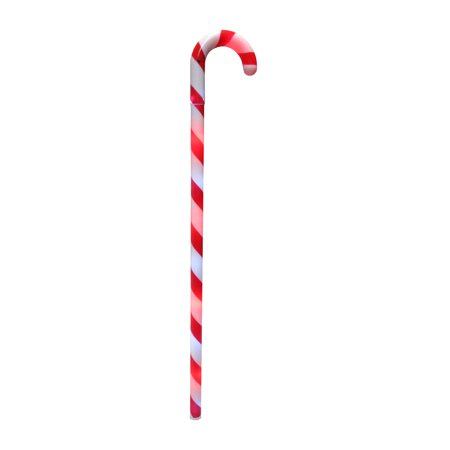 "Light Up Candy Cane Red White Striped 23"" Cane Flashing Candy Cane Wand Stick"