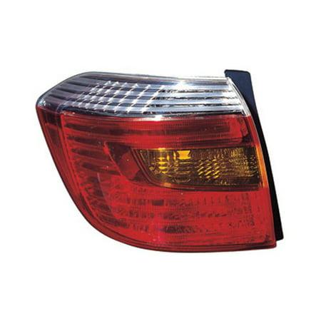 2008-2010 Toyota Highlander  Aftermarket Driver Side Rear Tail Lamp Lens and Housing 8156148170-V