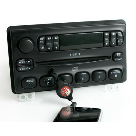 Ford Mercury 2001-04 Explorer Radio AMFM CD w Auxiliary MP3 Input 3L2T-18C815-UA - Refurbished