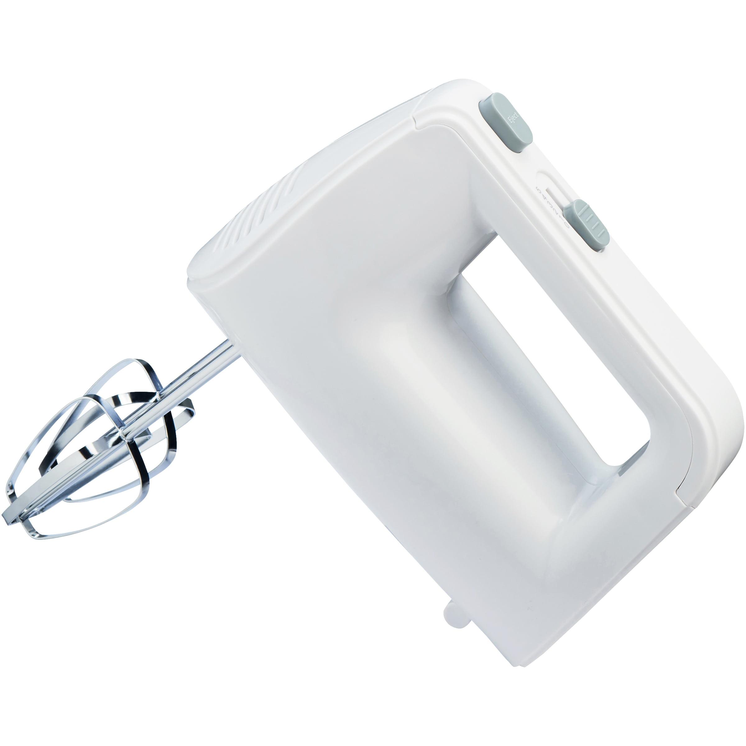 Mainstays 5-Speed 150-Watts Hand Mixer with Chrome Beaters, White