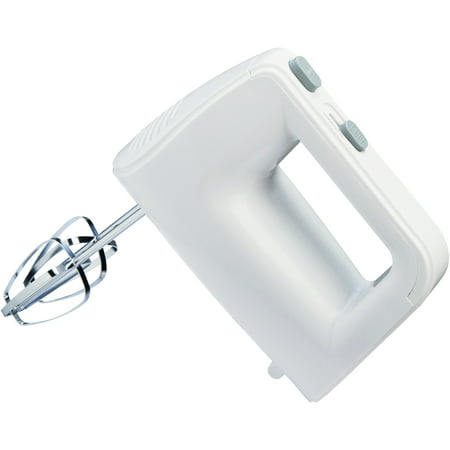 Mainstays 150-Watt 5-Speed White Hand Mixer with Chrome Beaters, 1 Each