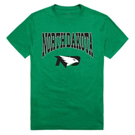 University of North Dakota Fighting Hawks Athletic Tee T-Shirt Kelly Small ()