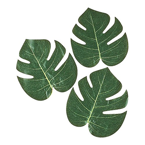 "Fun Express (Pack of 12) FX IN-70/1514 Tropical Leaves 8"" Green"