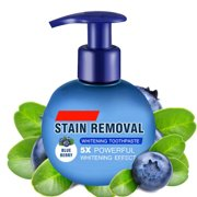 TekDeals Intensive Stain Removal Teeth Whitening Toothpaste Fight Bleeding Gums Blueberry