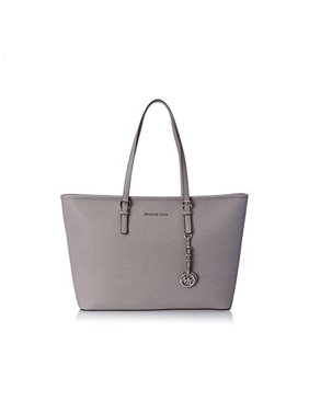 aa8ecbda68ce Product Image Michael Kors NEW Pearl Gray Saffiano Cross-Stitch Leather  Tote Bag