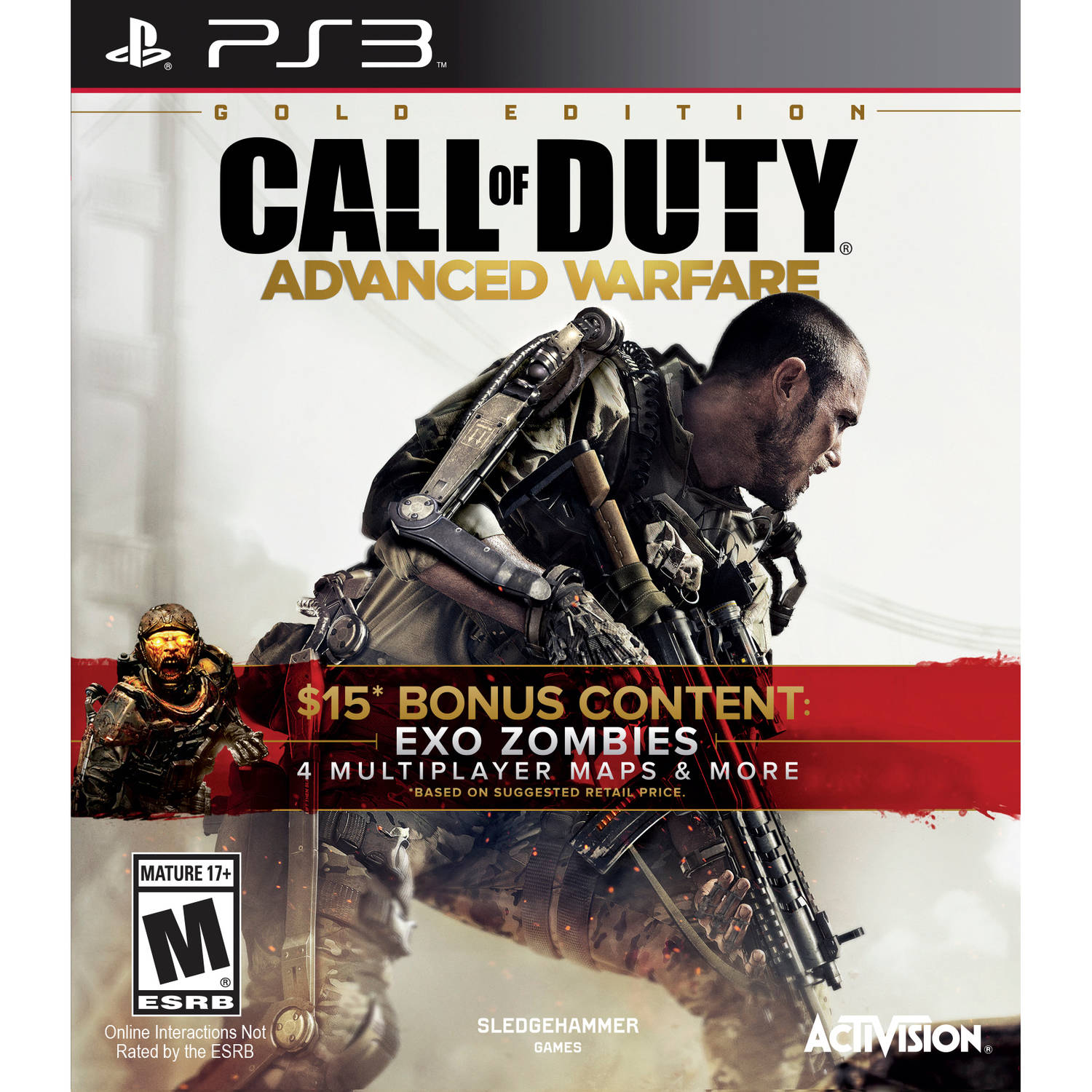 Call of Duty: Advanced Warfare w/ DLC [Gold], Activision, PlayStation 3, 047875874251