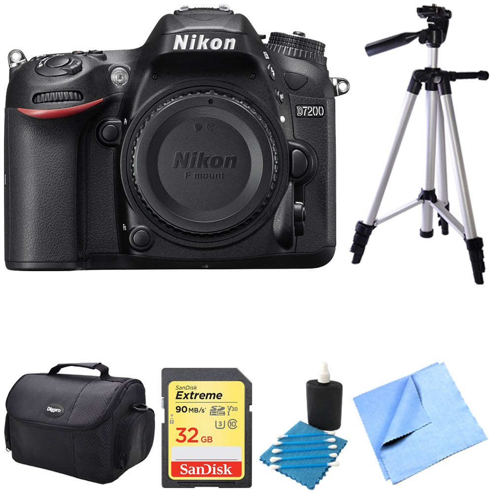 Nikon D7200 DX-Format 24.2MP Digital HD-SLR Body 32GB bun...