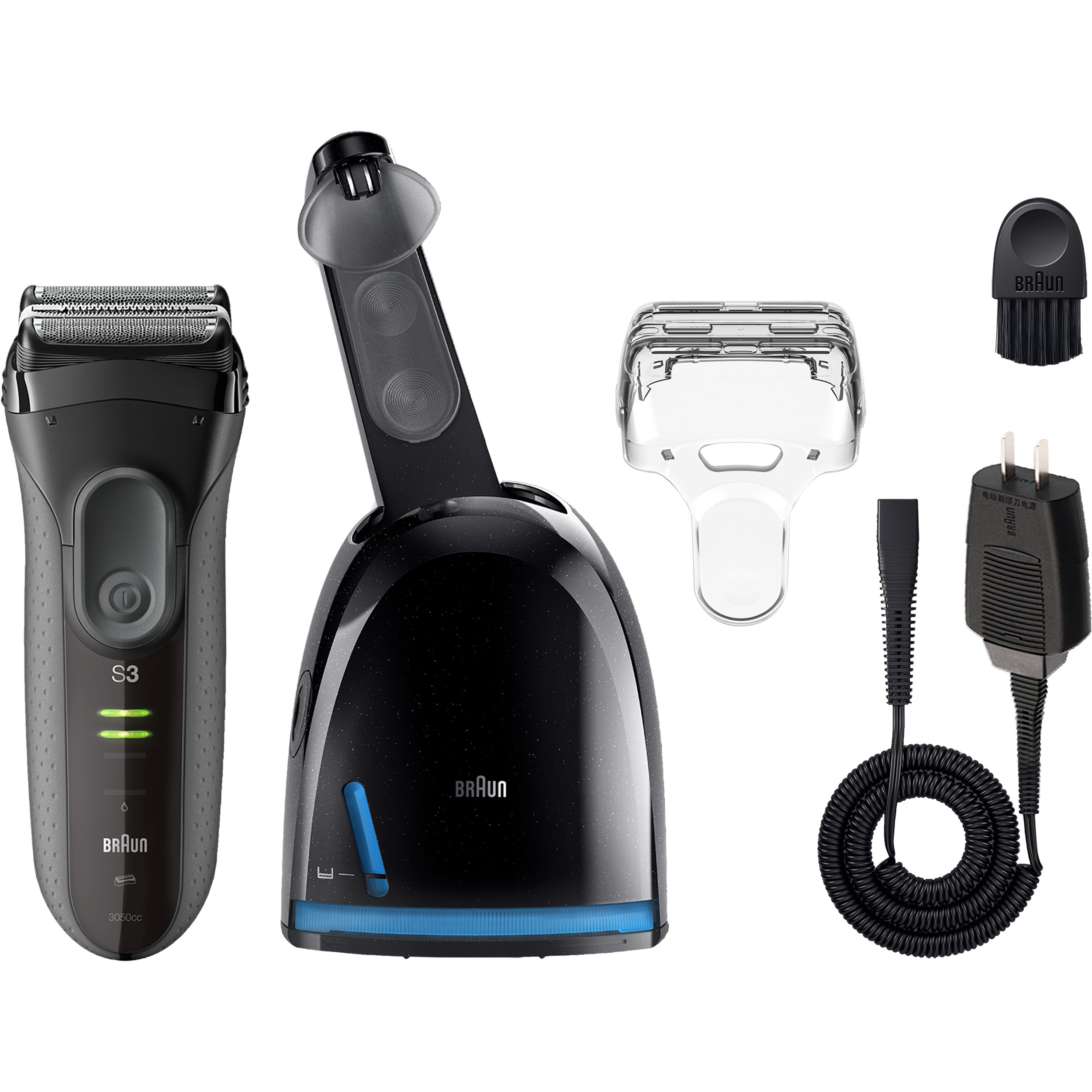 Braun Series 3 ProSkin 3050cc Electric Shaver for Men   Rechargeable Electric  Razor with Clean Charge System 04691c3e70