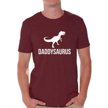 Awkward Styles Men's Daddysaurus Cool Graphic T-shirt Tops Father`s Day Gift Daddy (Cool Graphic Tees)