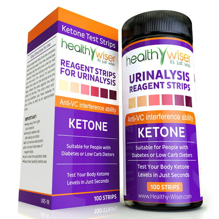 Ketone Strips 100Ct  Professional Grade Ketone Urine Test Strips  99  Accuracy