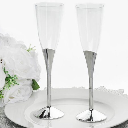 Plastic Cups For Cocktails (Efavormart 30 Pcs 6oz Disposable Clear Plastic  Champagne Flutes for Wedding Birthday Party Banquet Events Cocktail)