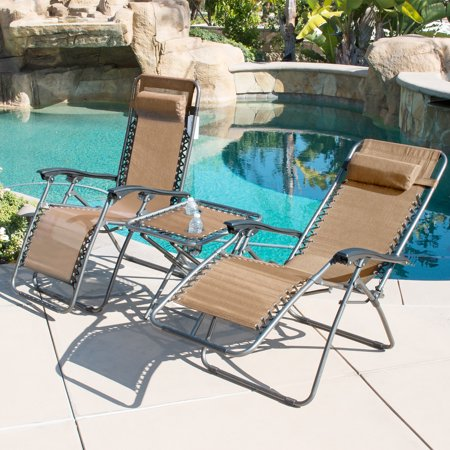 Belleze 169 Set Of 2 Zero Gravity Chair With Table Set