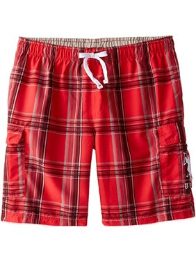 249477afa1 Free shipping. Product Image U.S. Polo Assn. Men's Big and Tall Basic Plaid  Swim Cargo,Engine Red,