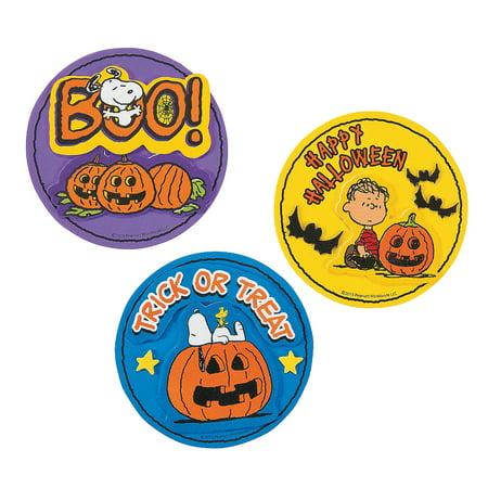 Fun Express - Peanuts Halloween Magnet CK-12 for Halloween - Craft Kits - Stationary Craft Kits - Magnet - Halloween - 12 - Fun Halloween Crafts