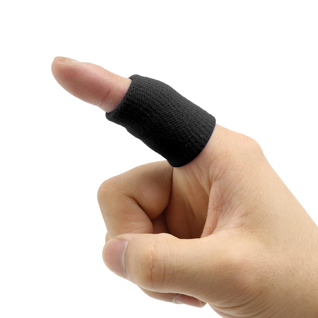 10 pcs Elastic Sport Protector Finger Sleeve Support Thumb Splint Brace
