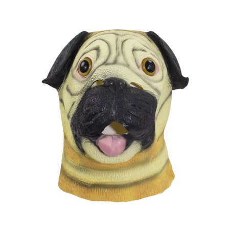 halloween cosplay dress up funny animal cartoon head latex mask pug walmartcom