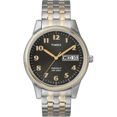 Timex Men's Charles Street Two-Tone Expansion Band Watch Mens Timex Analog Dress Watch