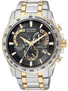 Citizen Men's Eco-Drive Chronograph Two-Tone Watch AT4004-52E