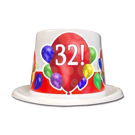 Partypro TQP 3869 32Nd Birthday Balloon Blast Top Hat