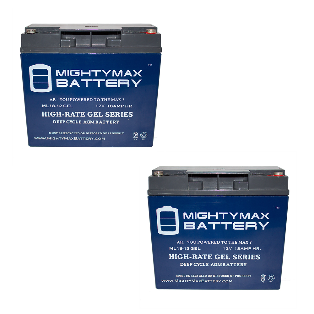 12V 18AH GEL Battery Replaces Siemens BC8002-1 E Unit 2 Pack by Mighty Max Battery