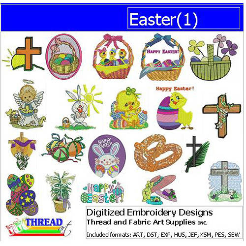 ThreadArt Machine Embroidery Designs Easter Version 1 CD