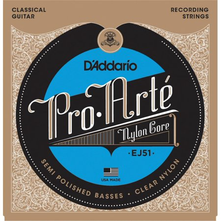 D'Addario EJ51 Pro-Arte Semi Polished Basses Hard Tension Classical Guitar Strings ()