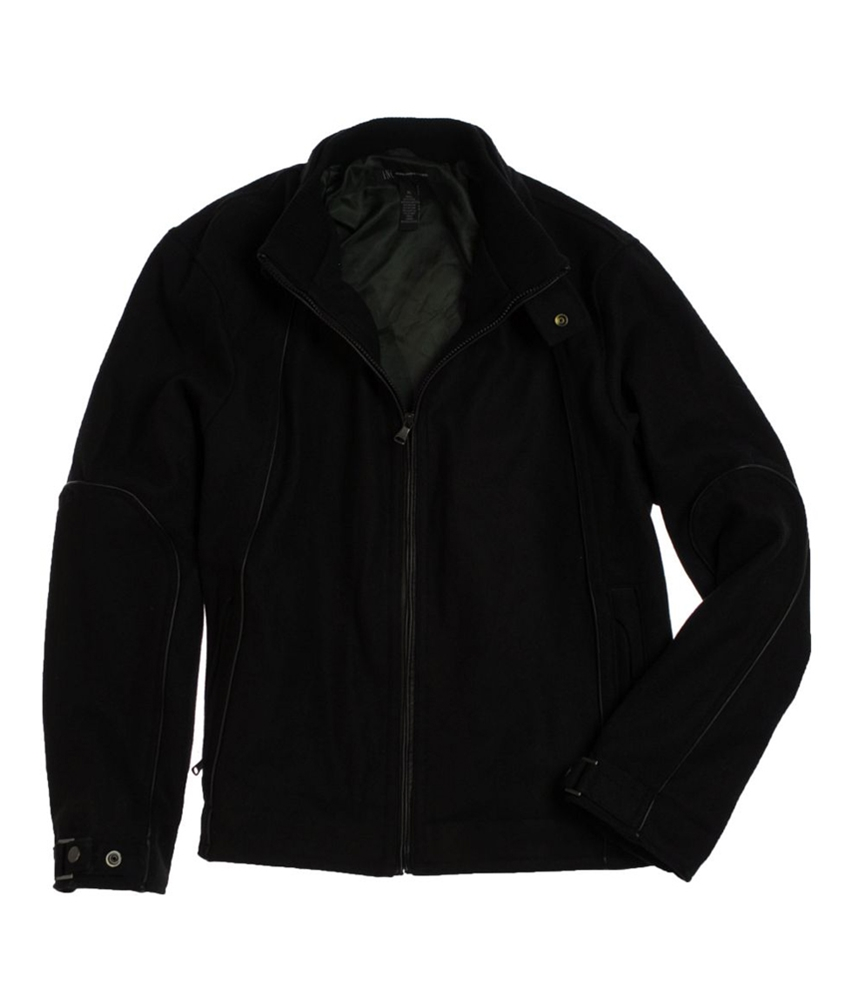 I-N-C Mens Wool Full Zip Field Jacket by