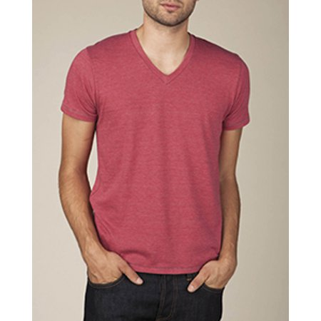 Alternative Apparel Men's AA1933 Tee Shirt Feeder Stripe V-Neck