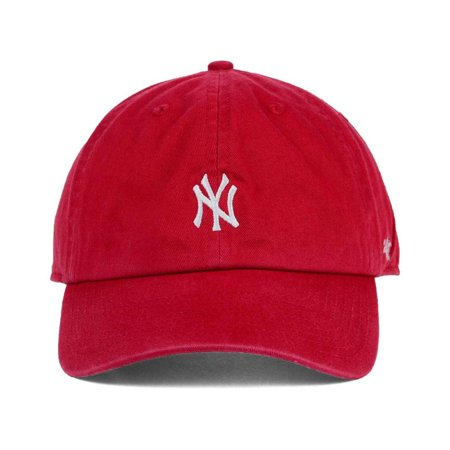 dbd93a97e947e New York Yankees Base Runner Micro Logo Clean Up Cap - Red ...