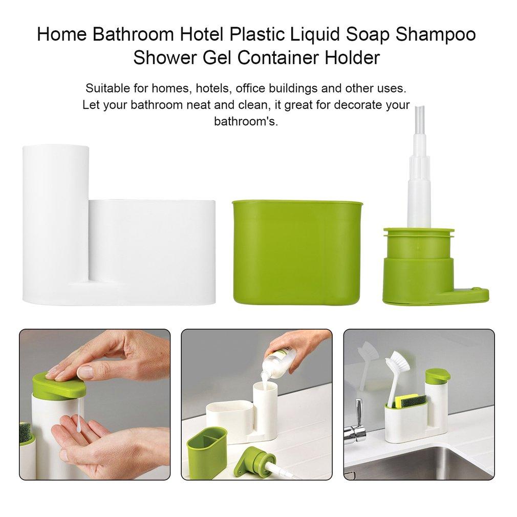 Home Bathroom Hotel Plastic Liquid Soap Shampoo Shower Gel Container ...