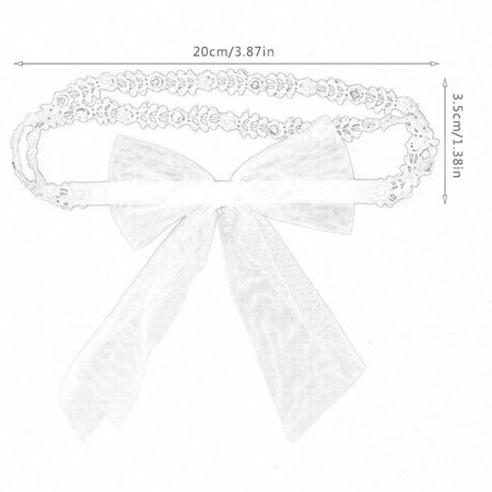Brand New 70405 Girl Hair Accessories Lace Flower Headwear Cute Elastic Headband - image 4 of 7