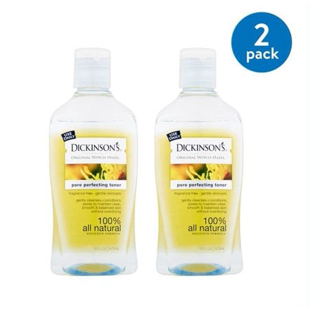(2 pack) Dickinson's Original Witch Hazel Pore Perfecting Toner, 16 fl (Best Toner For Redness)