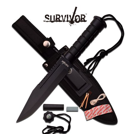 FIXED BLADE KNIFE Survival Hunting Tactical Black Combat Military Rambo