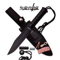 FIXED BLADE KNIFE Survival Hunting Tactical Black Combat Military Rambo HK-786BK