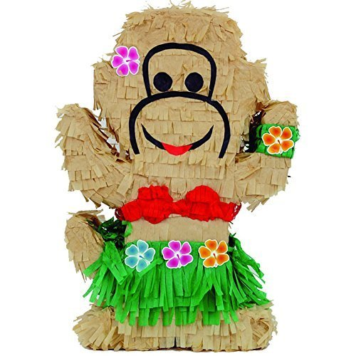 "Pinatas Luau Monkey Pinata, Party Game, Centerpiece Decoration and Photo Prop, 20"" H"