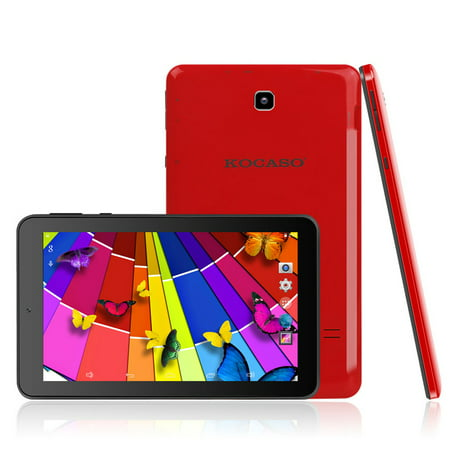 KOCASO MX780 7-Inch Dual Camera WiFi Quad Core Android Tablet (Red)