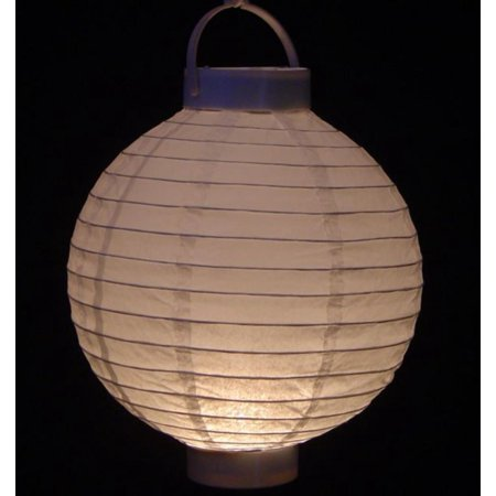 Pack Of 3 Lighted Battery Operated White Garden Patio Chinese Paper Lanterns 8