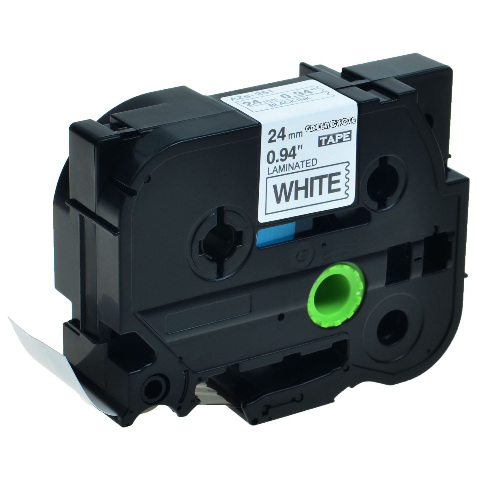 Black on White Label Tape Compatible for Brother TZ Tze 251 Tze-251 P-Touch 24mm