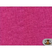 """Polyester Vintage Linen Look FUCHSIA Fabric / 60"""" W / Sold by the yard"""