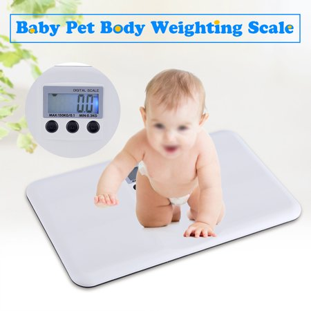- EECOO Electronic Scales,LCD Digital Electronic On/Tare Function Low Battery/Lock Alarm Baby Pet Body Weighting Scale Digital Scale