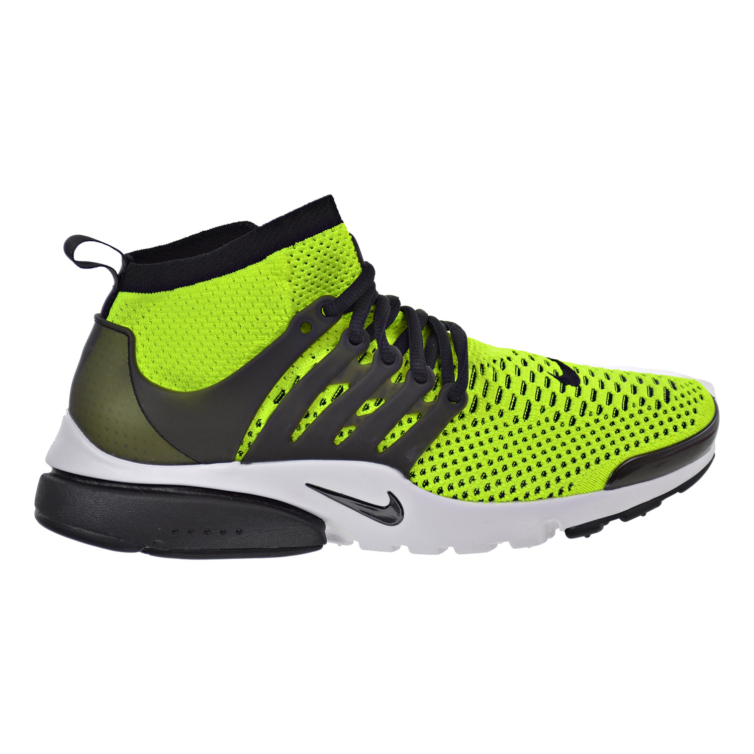 Nike Air Presto Flyknit Ultra Men's Shoes Volt Black White 835570-701 (9.5 D(M) US) by Nike