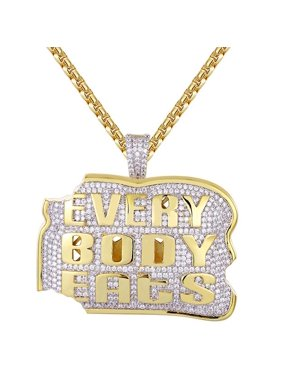 bad9b340873abe Product Image New 14k Gold Finish Loaf Of Bread Iced Out Custom Pendant.  Master of Bling